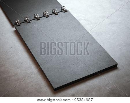 Black spiral notepad