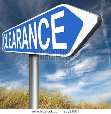 final stock clearance sale winter or summer sales huge price reduction end of fashion season road sign