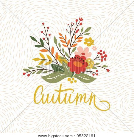 autumn card design
