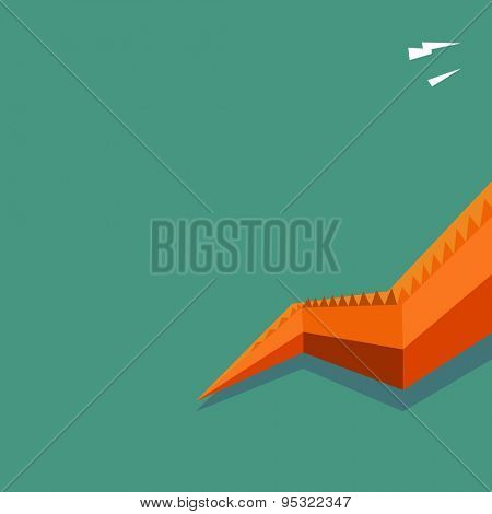 dragon tail text space. vector illustration