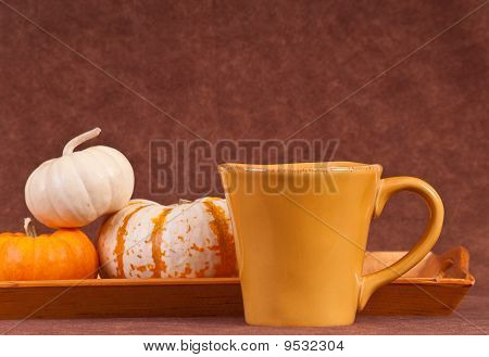 Coffee Cup With Pumpkins