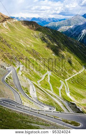 road at Passo dello Stelvio, Alto Adige, Italy