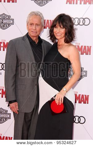 vLOS ANGELES - JUN 29:  Michael Douglas, Evangeline Lilly at the