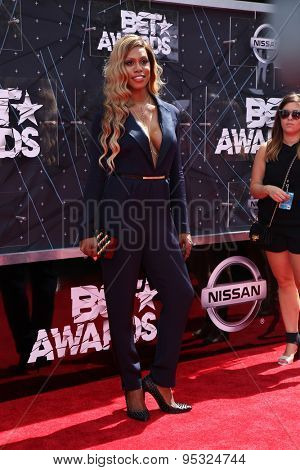 vLOS ANGELES - JUN 28:  Laverne Cox at the 2015 BET Awards - Arrivals at the Microsoft Theater on June 28, 2015 in Los Angeles, CA