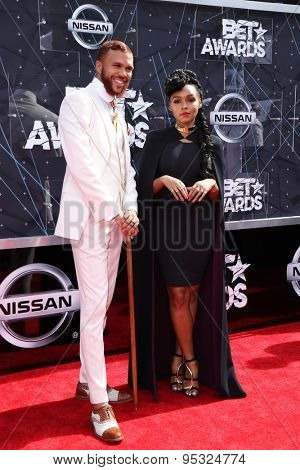 vLOS ANGELES - JUN 28:  Jidenna, Janelle Monae at the 2015 BET Awards - Arrivals at the Microsoft Theater on June 28, 2015 in Los Angeles, CA