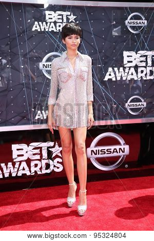 vLOS ANGELES - JUN 28:  Zendaya Coleman at the 2015 BET Awards - Arrivals at the Microsoft Theater on June 28, 2015 in Los Angeles, CA
