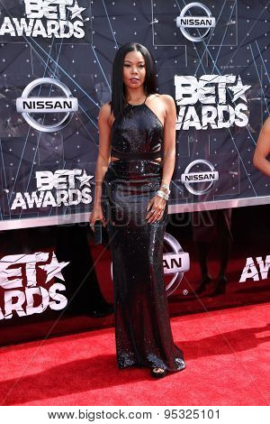 vLOS ANGELES - JUN 28:  Gabrielle Union at the 2015 BET Awards - Arrivals at the Microsoft Theater on June 28, 2015 in Los Angeles, CA