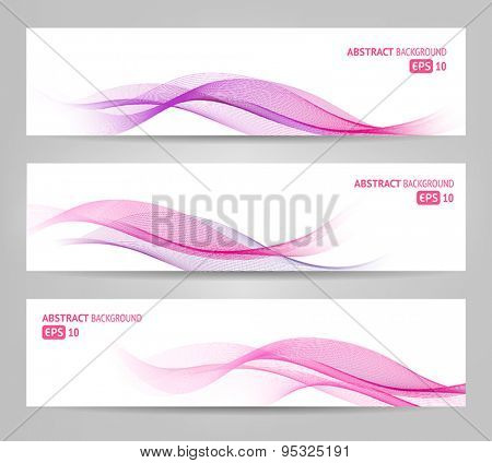 Elegant abstract banners for web or print. Can be used to illustrate topics related to cosmetics and beauty.