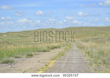 Old roadway in a very rural area