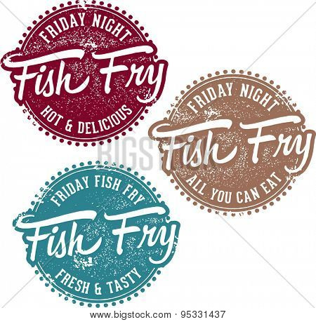 Friday Fish Fry Menu Stamps