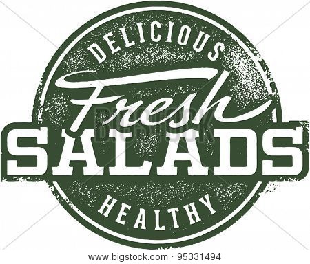 Vintage Fresh Salad Menu Sign