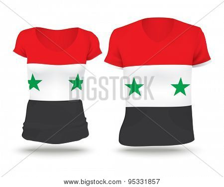 Flag shirt design of Syria - vector illustration