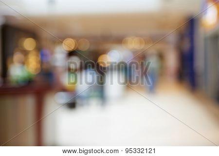 Natural bokeh shopping mall