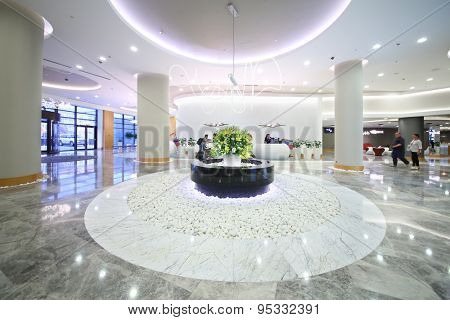 SOCHI, RUSSIA - JUL 27, 2014: Interior vestibule in the Hotel Radisson Blu Paradise Resort and Spa