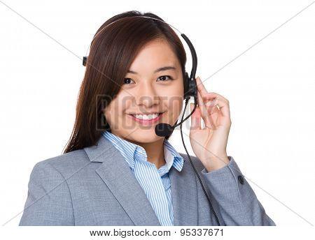 Customer hotline operator