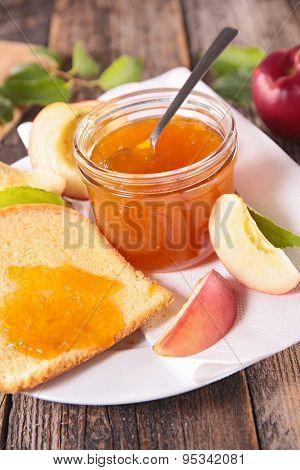 peach jam and bread