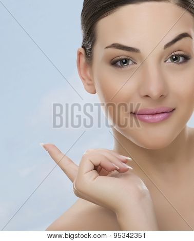 Nice woman and finger warning