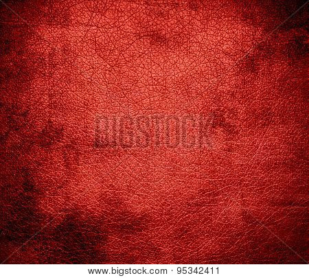Grunge background of cinnabar leather texture