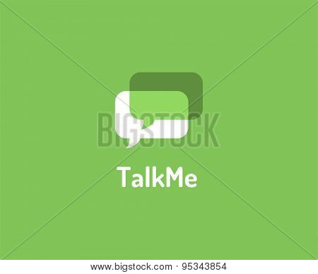 Abstract vector logo element. Message, forum, chat and typing. Stock illustration for design
