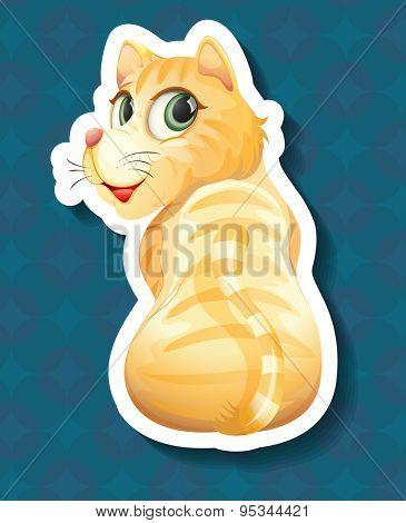 Cute ginger kitten turning the head