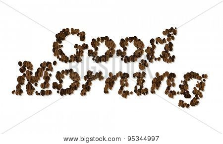 Good Morning. Coffee Seed Font