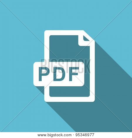 pdf file flat icon  original modern design flat icon for web and mobile app with long shadow