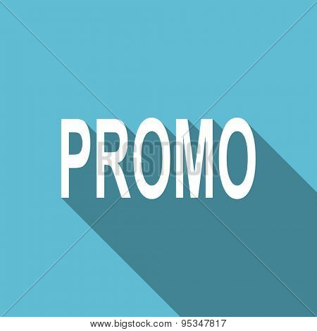 promo flat icon  original modern design flat icon for web and mobile app with long shadow