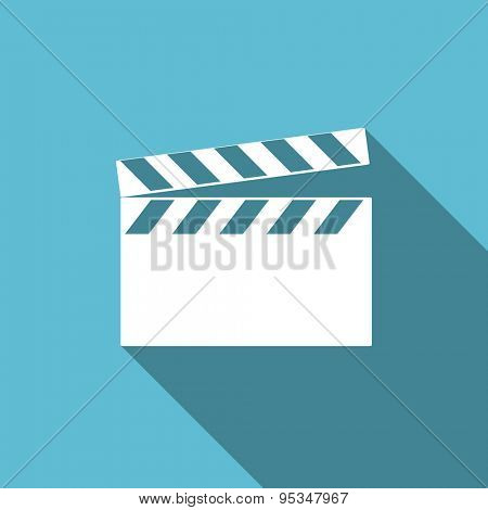 video flat icon cinema sign original modern design flat icon for web and mobile app with long shadow