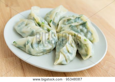Chinese dumpling on the plate