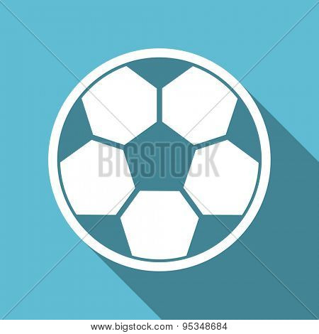 soccer flat icon football sign original modern design flat icon for web and mobile app with long shadow