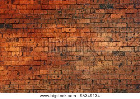 Brown Colored Brick Wall
