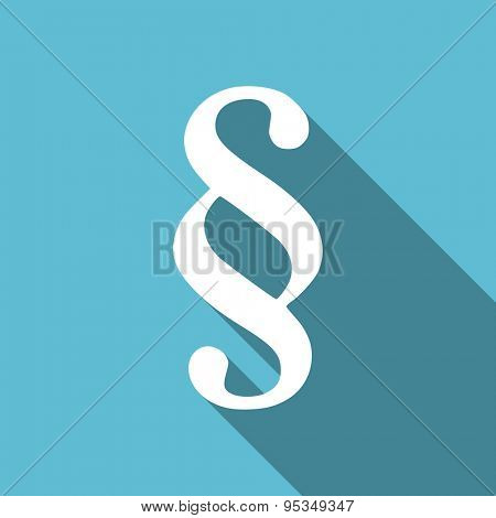 paragraph flat icon law sign original modern design flat icon for web and mobile app with long shadow