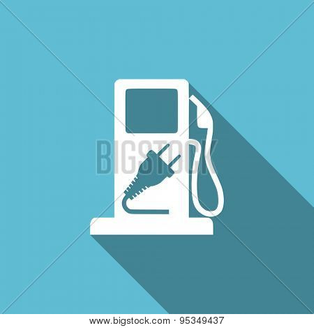 fuel flat icon hybrid fuel sign original modern design flat icon for web and mobile app with long shadow