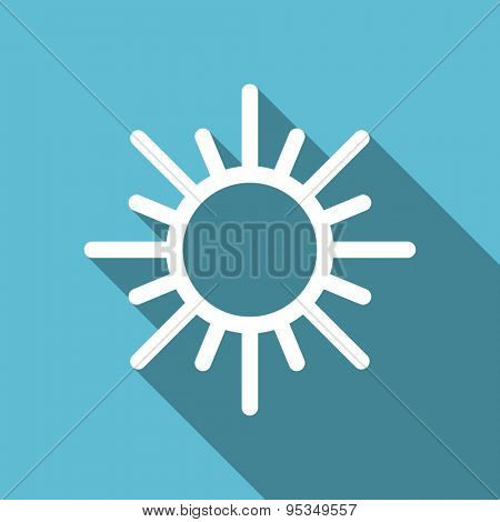 sun flat icon waether forecast sign original modern design flat icon for web and mobile app with long shadow