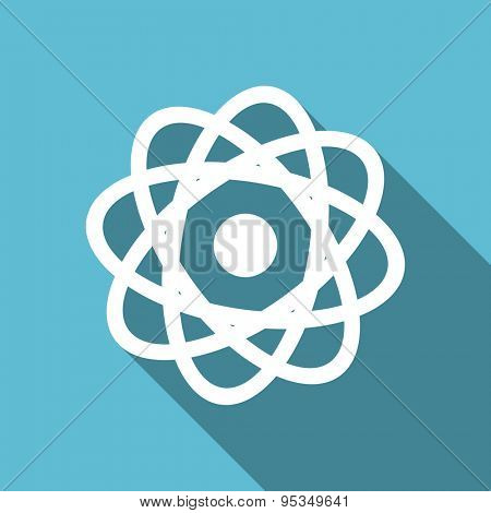 atom flat icon  original modern design flat icon for web and mobile app with long shadow