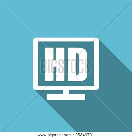 hd display flat icon  original modern design flat icon for web and mobile app with long shadow