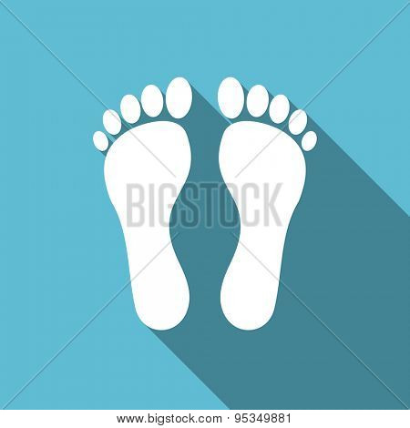 foot flat icon  original modern design flat icon for web and mobile app with long shadow