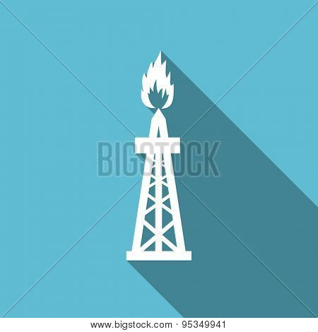 gas flat icon oil sign original modern design flat icon for web and mobile app with long shadow