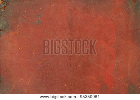 Dark brown and red, partially burnt book cover for background
