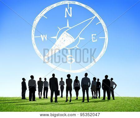 Conpass Longtitude Latitude Navigation Direction Adventure Concept