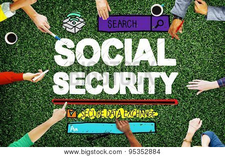 Social Security Welfare Retirement Payment Concept