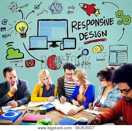 Responsive Design Responsive Quality Analytics I imagination Concept