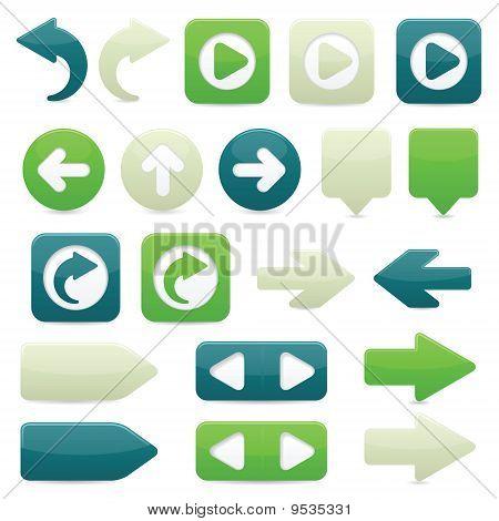 Ícones da seta direcional