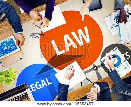 Law Legal Rights Judge Judgement Punishment Judicial Concept