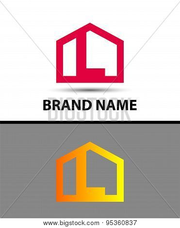 Letter L logo, real estate symbol
