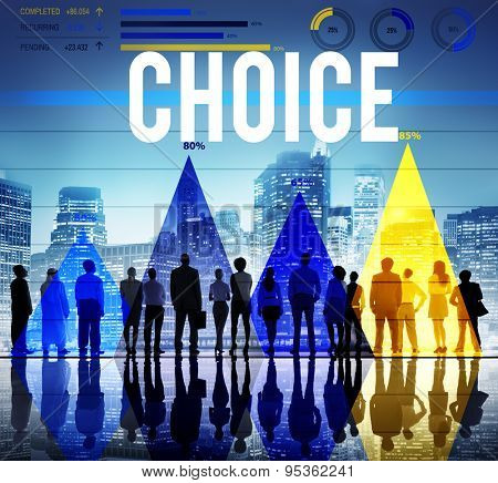 Choice Selection Option Choosing Risk Concept