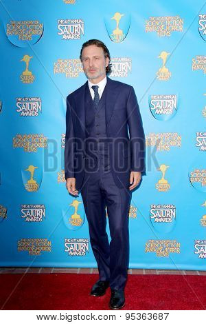 BURBANK - JUNE 25: Andrew Lincoln arrives at the 41st Annual Saturn Awards on Thursday, June 25, 2015 at the Castaway Restaurant in Burbank, CA.