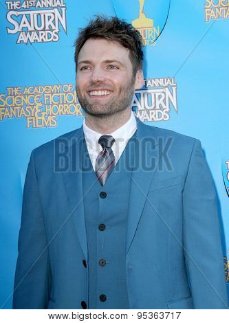 BURBANK - JUNE 25: Seth Gabel arrives at the 41st Annual Saturn Awards on Thursday, June 25, 2015 at the Castaway Restaurant in Burbank, CA.