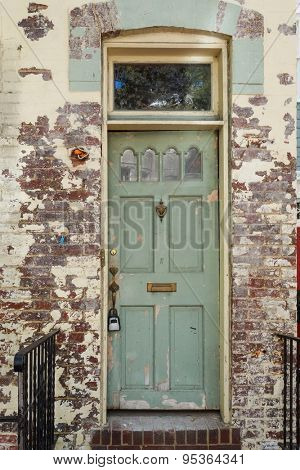 Old brick building and rustic old door in Georgetown - Washington DC