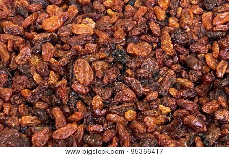 Dried raisins (sultana) background